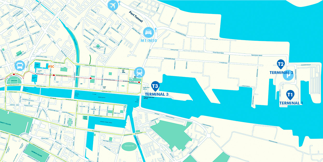 dublin port map