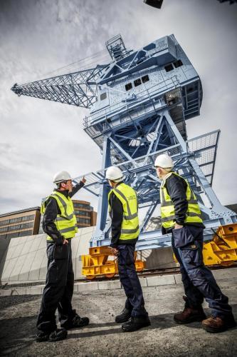 Crane men in PPE