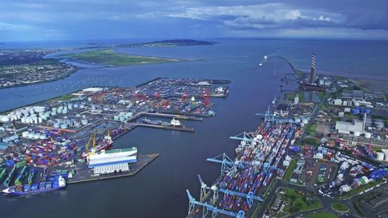 dublin port aerial