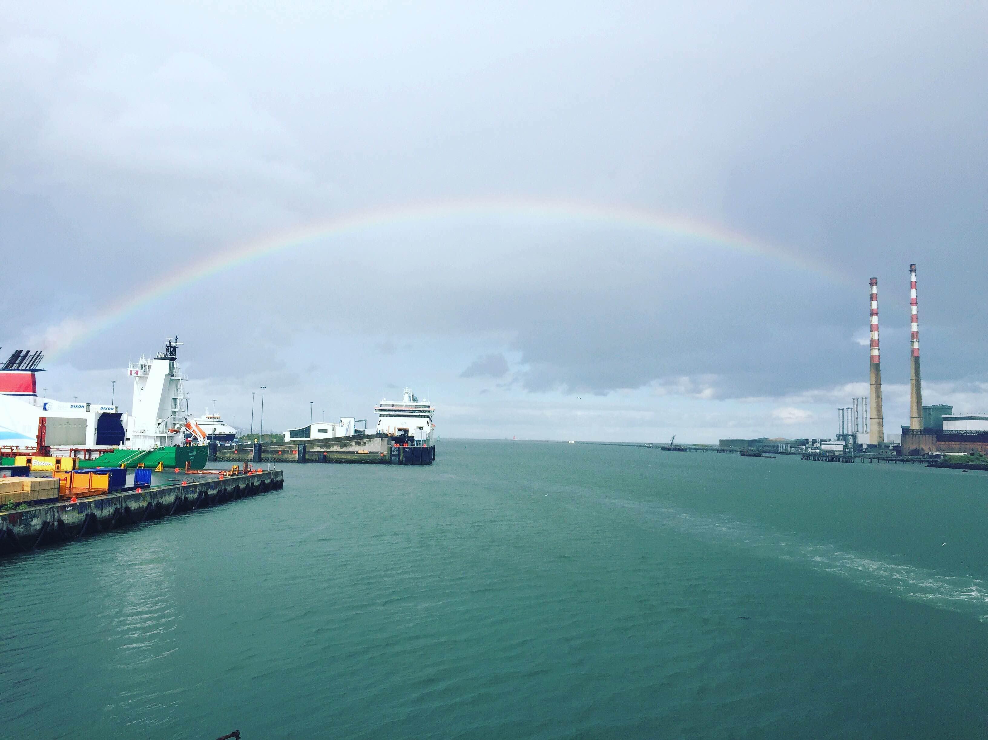 dublin port rainbow